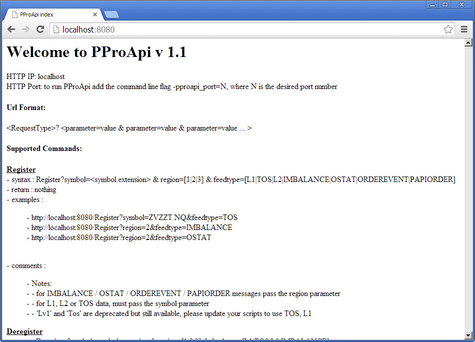 PPro8 PproAPI
